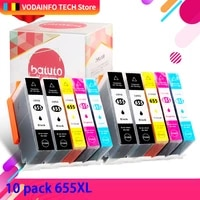 qsyrainbow 10pcs compatible ink cartridge 655 for hp 655 hp655 for deskjet 3525 5525 4615 4625 4525 6520 6525 6625 printer