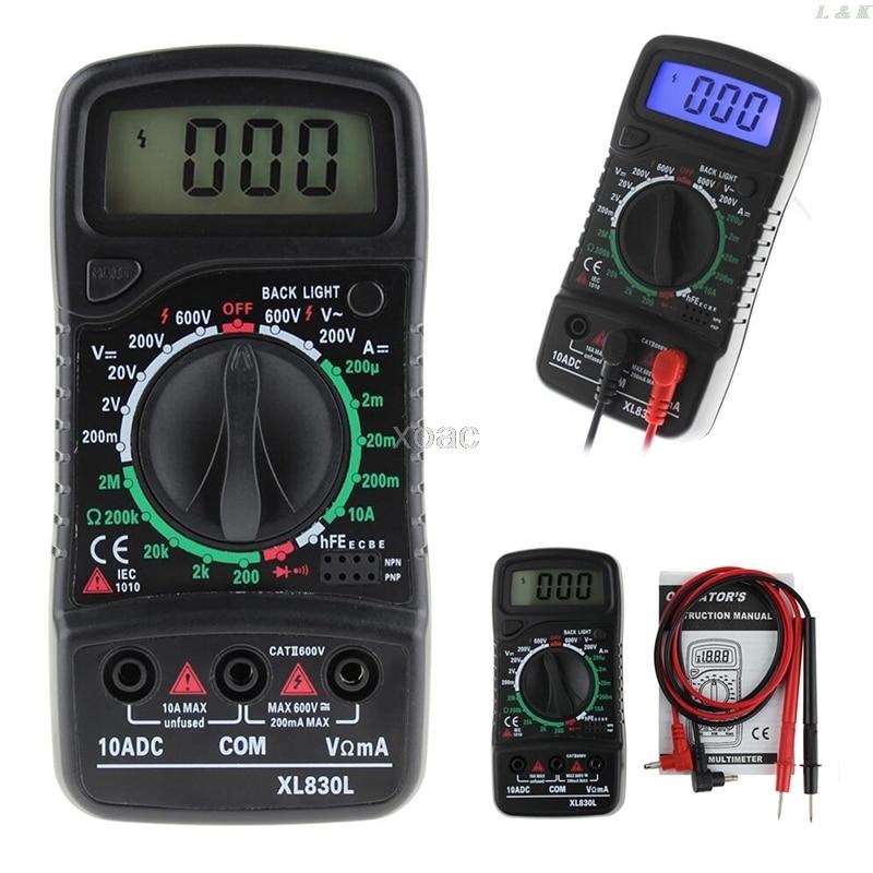 XL-830L цифровой ЖК-мультиметр Вольтметр Амперметр AC/DC/OHM тестер тока M07 Прямая поставка