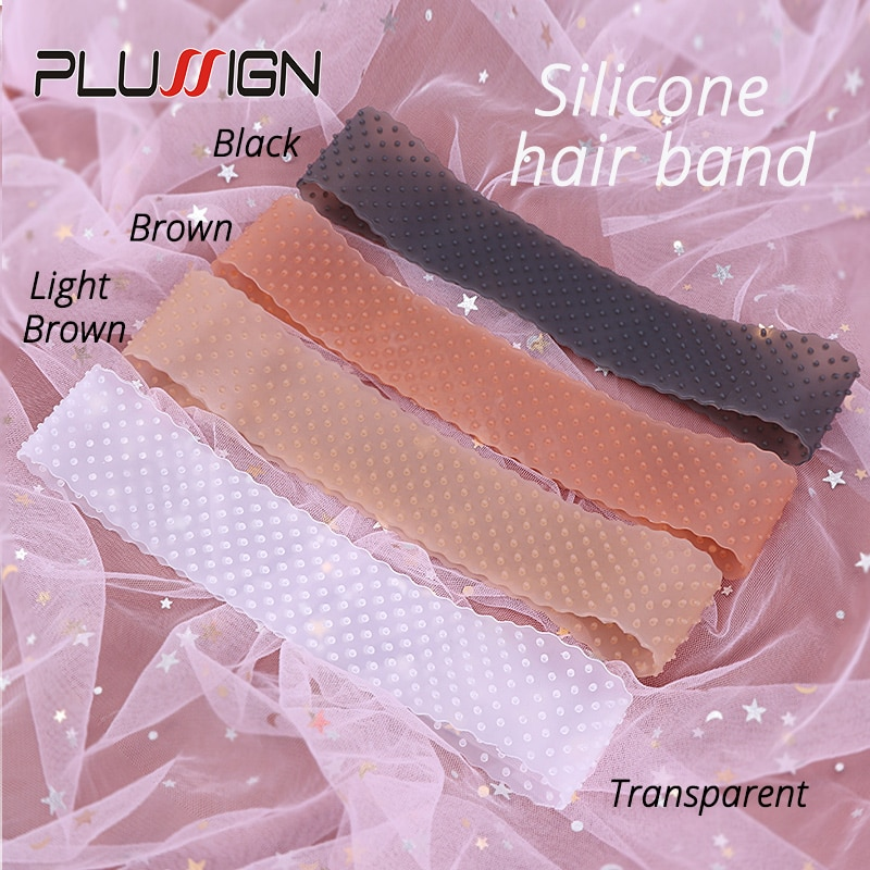 Silicon Wig Band Elastic Wig Grip Brown Transparent Black Headband For Fix Wigs Beige Hair Band Without Gel Or Glue Non Slip