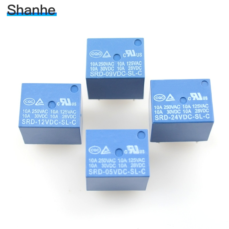 Реле SONGLE PCB 5 pins 5v 9v 12v 24v