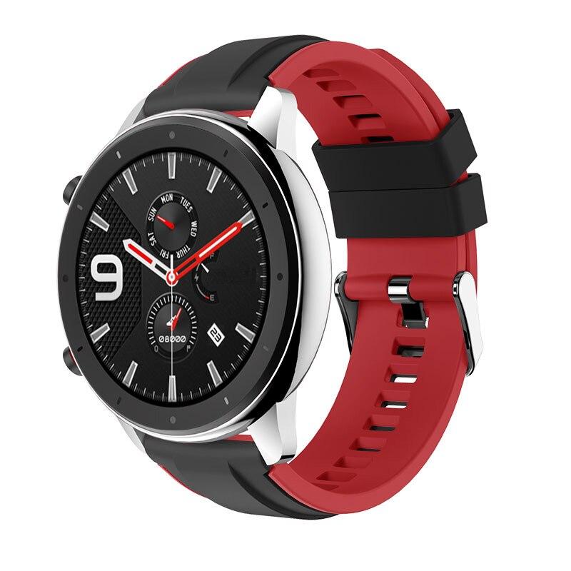 Para Huami Amazfit GTR 47MM banda de reloj de silicona hombres mujeres deporte correa de reloj inteligente para Amazfit Stratos 2S