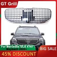 car front racing upper grille facelift bumper grill for mercedes benz x167 gls class 2020 exterior parts for car accessories