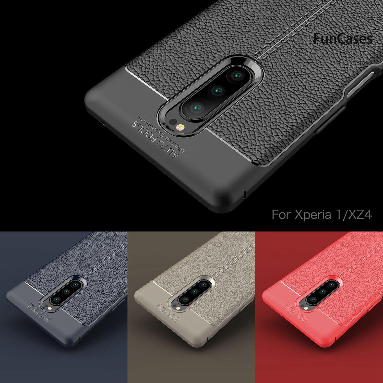 Fundas de parachoques azul marino para Sony Xperia 1, funda protectora con...