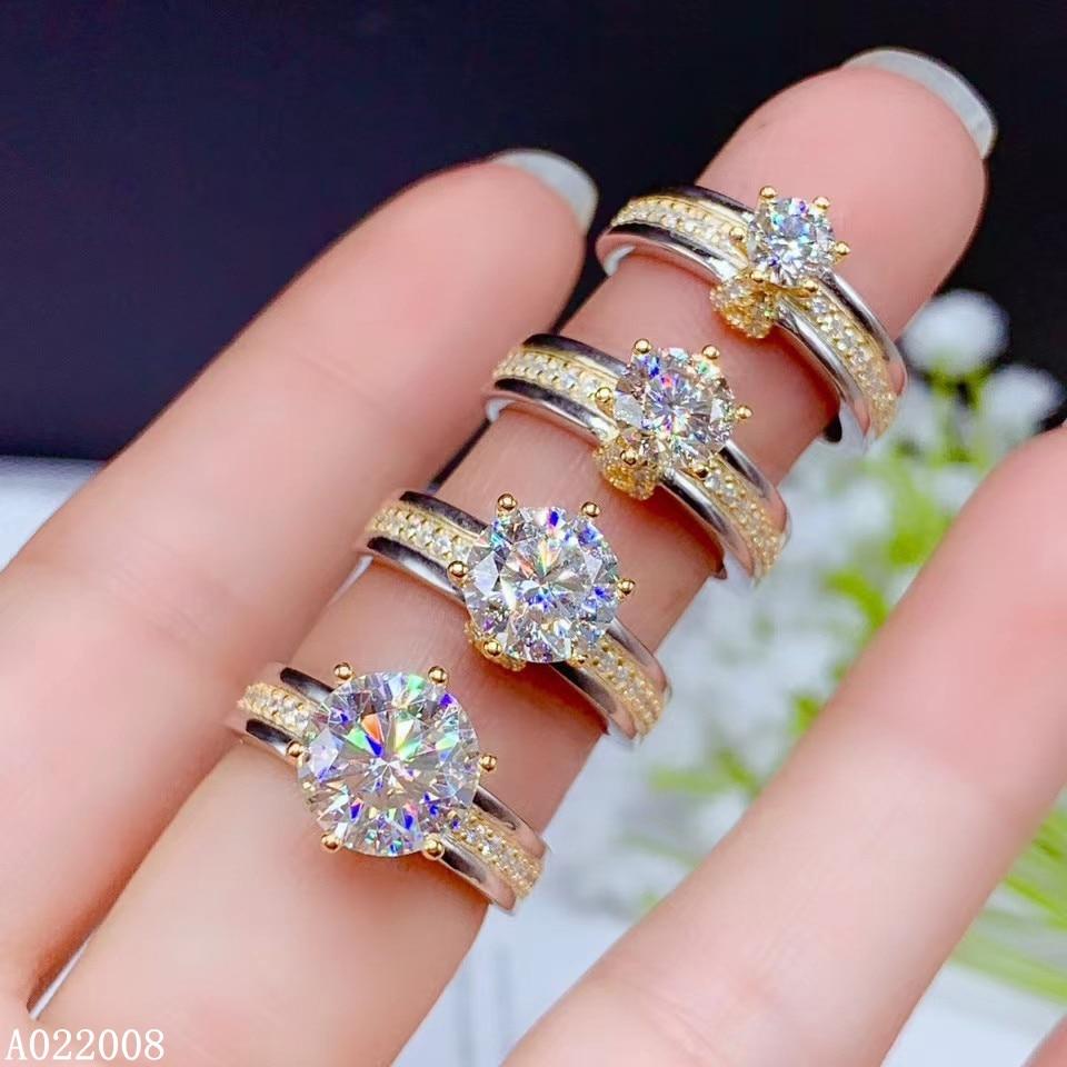 KJJEAXCMY-خاتم نسائي من الفضة الإسترليني عيار 925 مرصع بأحجار الراين والماس