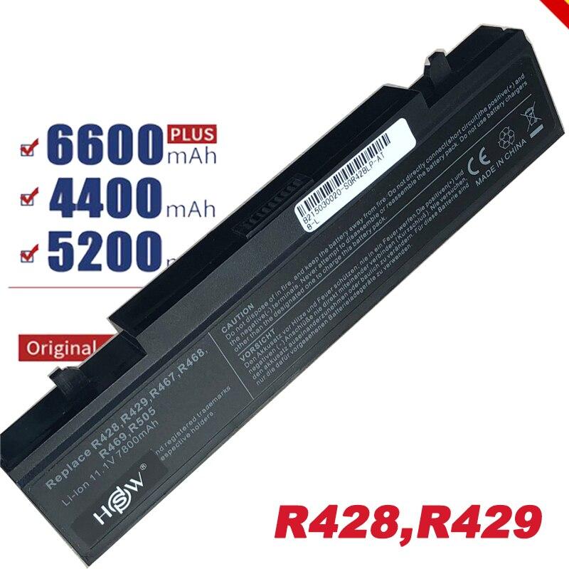 6600mAh Bateria para celular SamSung R519 9 R522 R523 R538 R540 R580 R620 R718 R720 R728 R467 R468 AA-PB9NC6B AA-PB9NS6B NP300E5C Fr