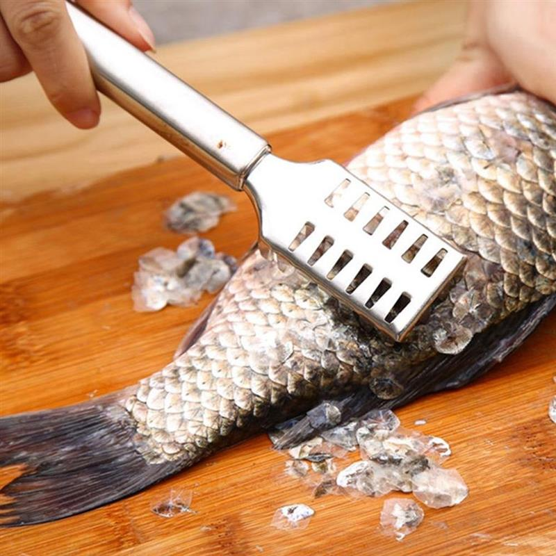 Cepillo de piel de pescado de acero inoxidable, espátula de pesca, ralladores,...