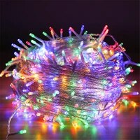 holiday led christmas lights 50m 30m 20m 10m led string lights 8mode eu plug decoration for wedding party holiday lights garland