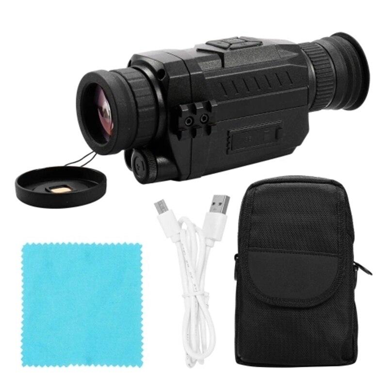 Hot-NV0535 night-vision 5x óptico 8x zoom digital infravermelho vedio câmera 200 m alcance monocular