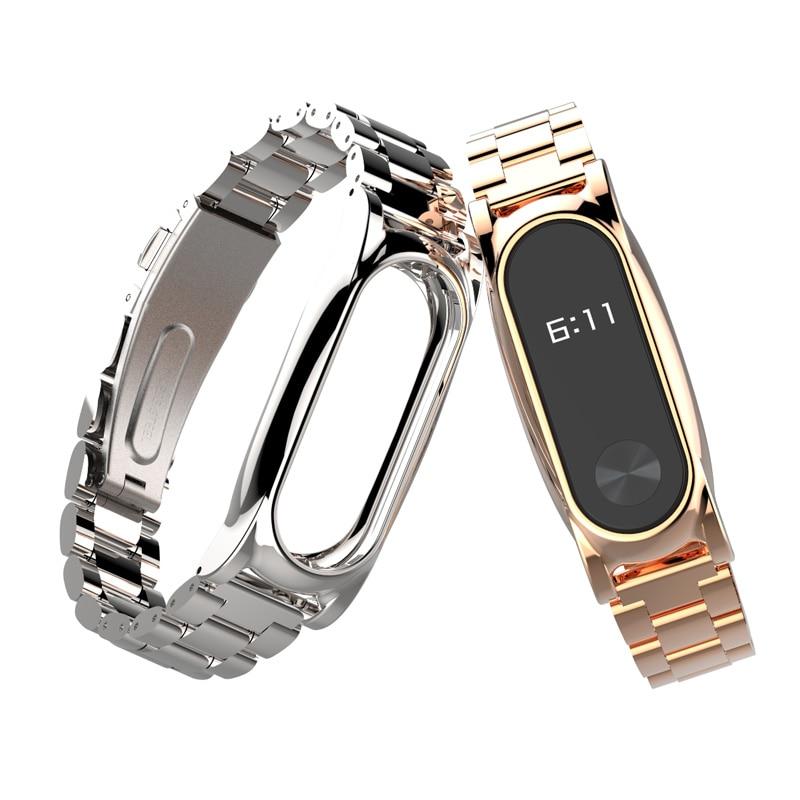 Для Xiaomi Mi Band 2 ремешок металлический Безвинтовой браслет из нержавеющей стали Mi Band 2 браслет Miband 2 Correa 2 браслеты