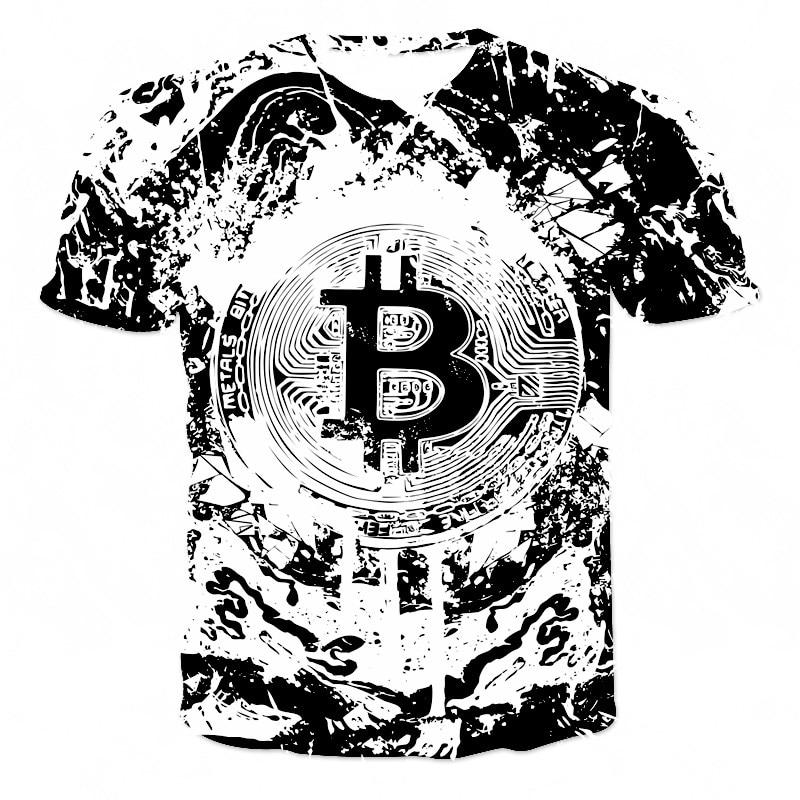 T-shirt homme, estival et décontracté, à la mode, avec billet de banque 3D, pour enfants