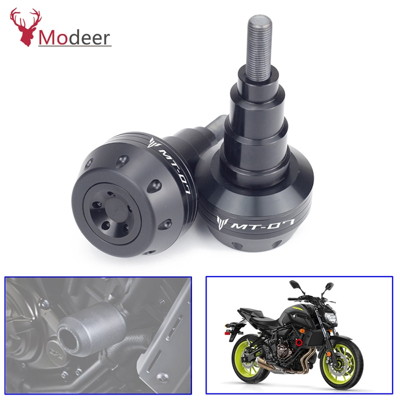 اليسار واليمين MT FZ 07 دراجة نارية CNC الألومنيوم الجسم إطار المتزلجون الوقوع حماية لياماها MT-07 FZ-07 MT07 FZ07 2015-2019