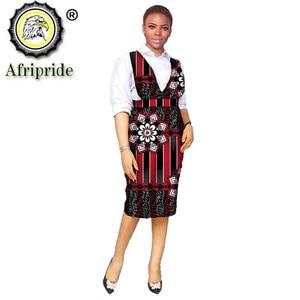 Women`s Dress Elegant Party Ladies Dresses African Clothes for Women Ankara Attire Print Outfits Midi Dress Pure Cotton S2125006