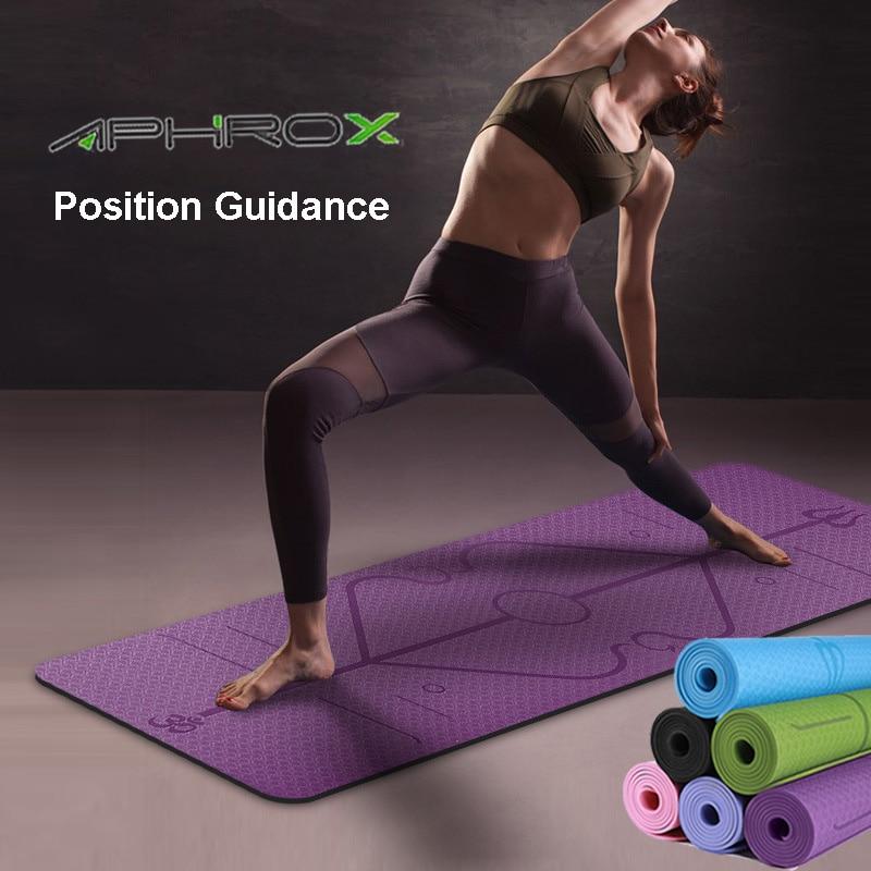 1830*610*6 мм TPE коврик для йоги, 6 цветов, нескользящий Профессиональный коврик для занятия йогой, фитнесом, складной коврик для занятий фитнесом