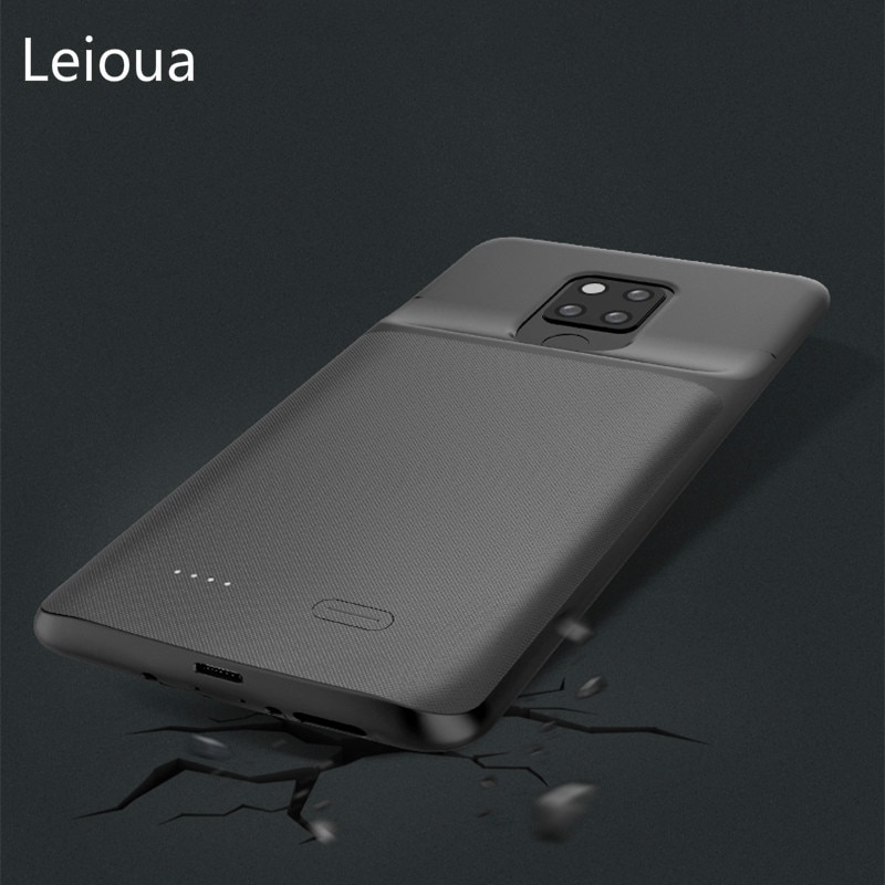 Funda de cargador de batería Leioua para Huawei mate20X 5G paquete externo de reserva de batería de Banco de energía funda de carga para Huawei mate20X 5G
