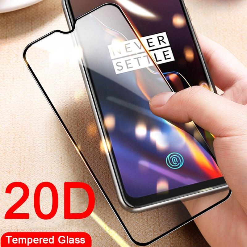 Protector de pantalla de vidrio templado 20D para Oneplus 3 3T 5 5T 6 6T para Oneplus 7 Pro Oneplus7 One Plus 7pro
