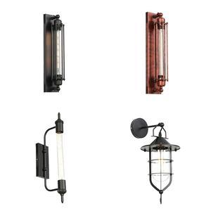 American vintage wall lamp indoor lighting bedside lamps wall lights for home110V/220V E27 T30 Edison bulb lights wandlamp