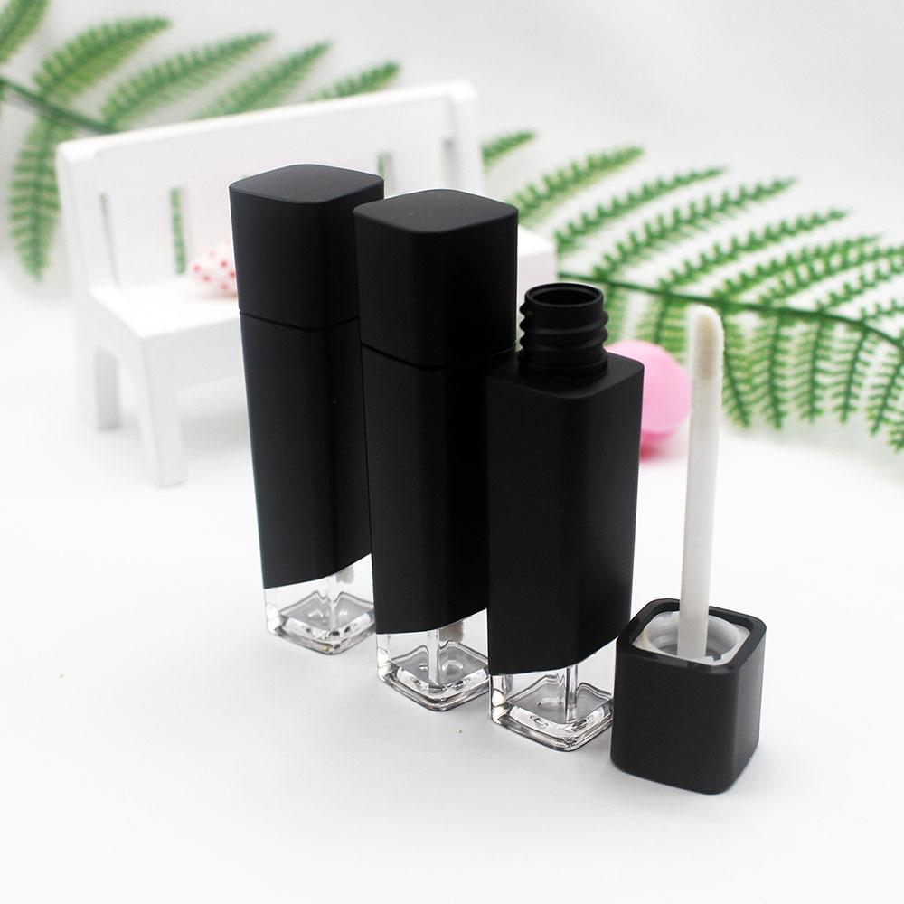 Brillo de labios cuadrado como de plástico, Tubo vacío cosmético, brillo de labios mate, envase de embalaje 8ml 5 uds.