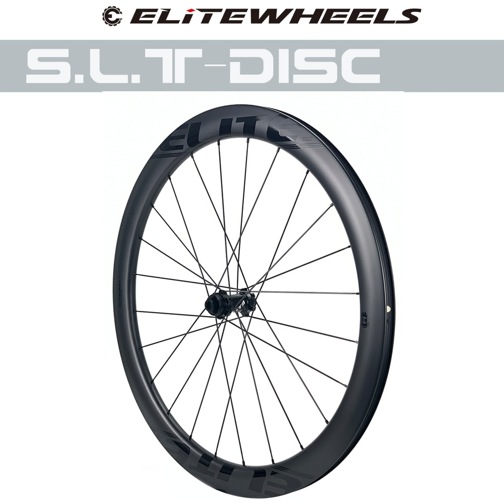 ELITEWHEELS SLT Road Disc Carbon Wheels Ceramic Bearing Center Lock Hub 24-24H Disc Brake Rim Cyclocross Road Cycling Wheelset