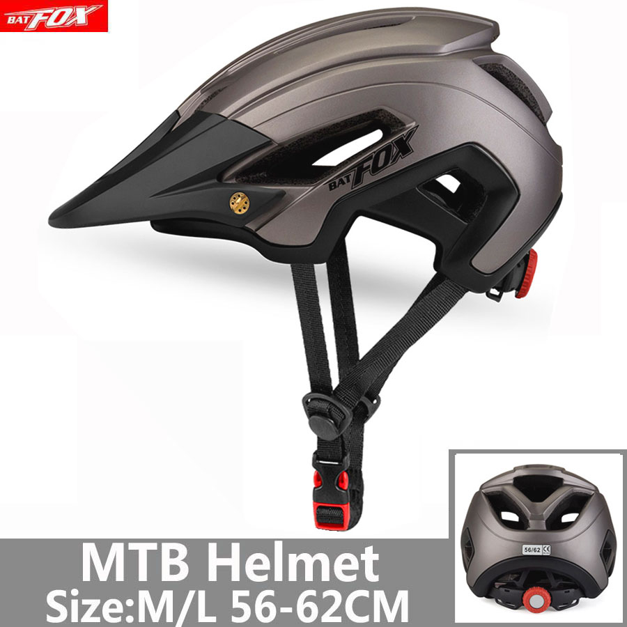 BATFOX-casco de ciclismo para hombre y mujer, moldeado integralmente, para ciclismo de...
