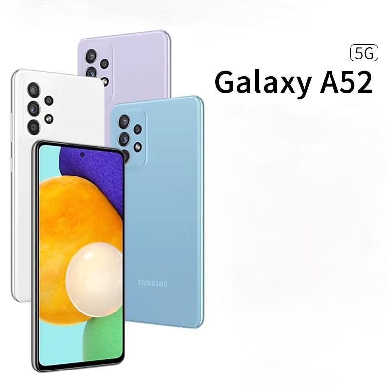 Samsung-teléfono inteligente Galaxy A52, Original, 5G, 6,5 pulgadas, 8G, 128G/256G, 750g Snapdragon, cámara de 64MP, batería de 4500mAh, Android