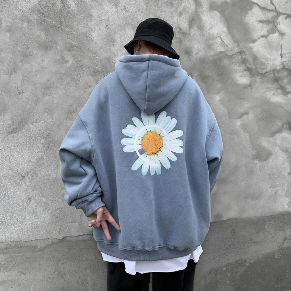 Sudaderas con capucha holgadas de invierno 2020 para hombres Harajuku Thicken Warm Coat Hoodies jerseys de gran tamaño