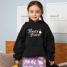 Famille Vêtements Enfants À Capuche Addison Rae Merch Pouty Visage Imprimé Filles Sweats Capuches Décontracté Polaire Épaisse Hauts Pullover