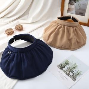 New Foldable Vacation Visor Caps for Women  Top Sun Hat Summer UV  Hats  Head  Bonnets for Women Designer  Sun Hats for Women