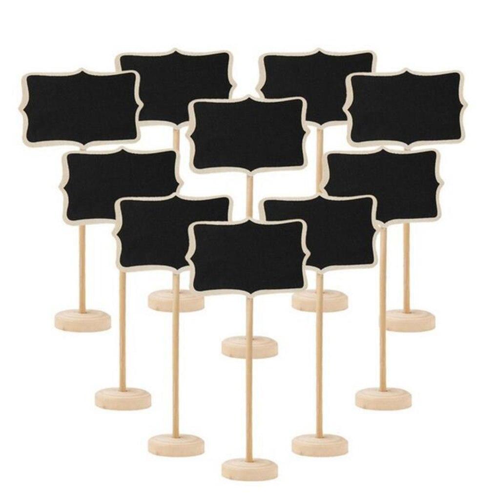 10 шт. доска деревянная доска мини деревянная доска объявлений доска для объявлений Свадебная вечеринка Декор запись информации