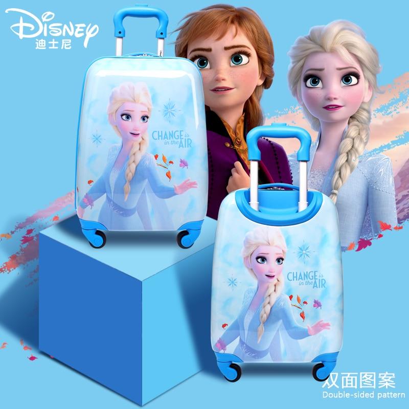 Authentic Disney Frozen 2 Children's Trolley Case Aisha Brigade Princess Travel Case 18-inch Suitcase 20-inch Boarding Baby Box