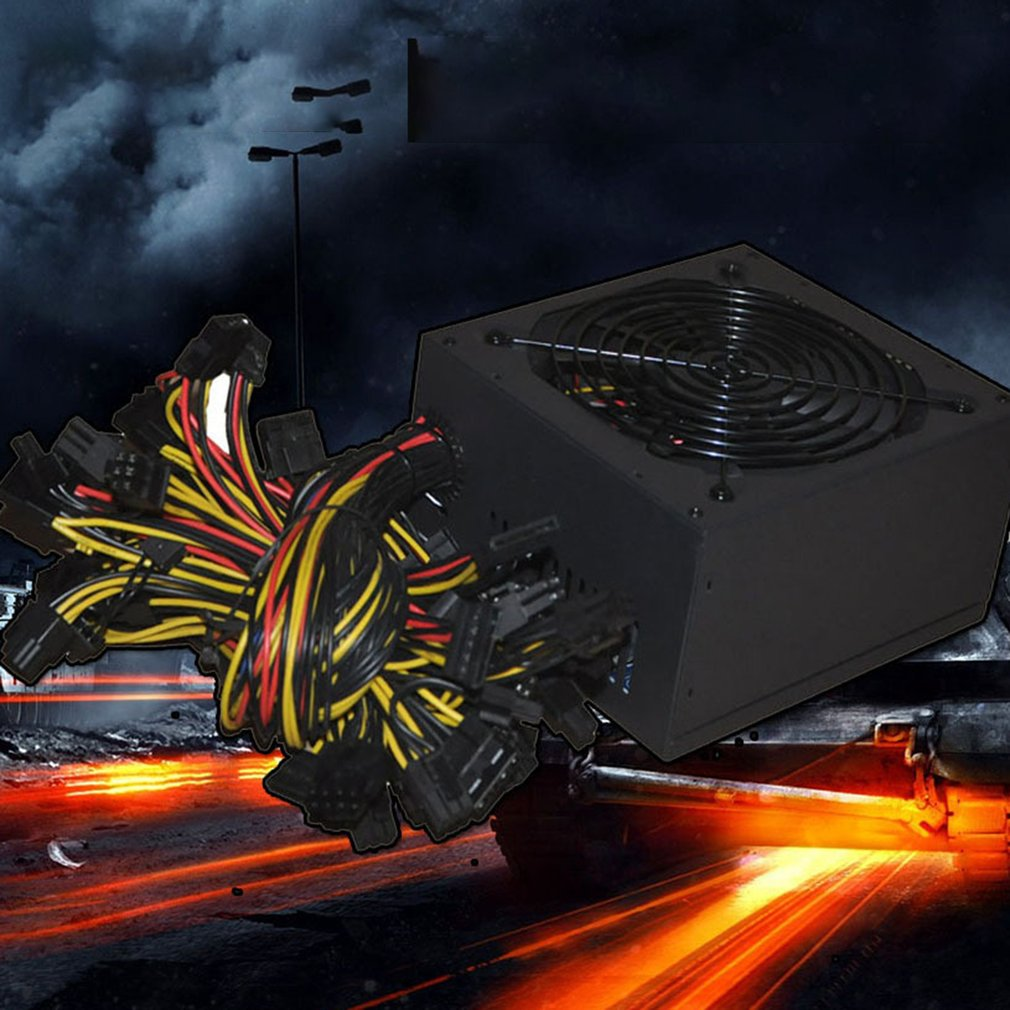 1800W ATX Modular Mining PC Power Supply Supports 6 Graphics Card 160-240V Power Supply Mining Machine Support enlarge