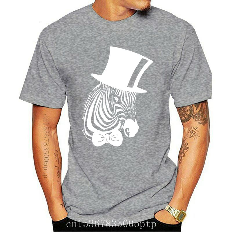 New Hipster Zebra Snob Hat Art Men'S Printed T Shirt Black Harajuku Tee Shirt