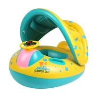 baby swim ring kids water float sunshade inflatable swimming ring summer outdoor safety seat swimming rings fun toys gift