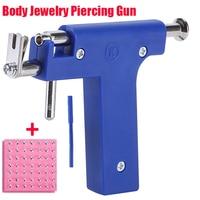 Пистолет для пирсинга тела с функциями гвоздик уха, носа, пирсинг для пупка, одноразовый стерильный пистолет с 98 шт. ушей Набор шпилек