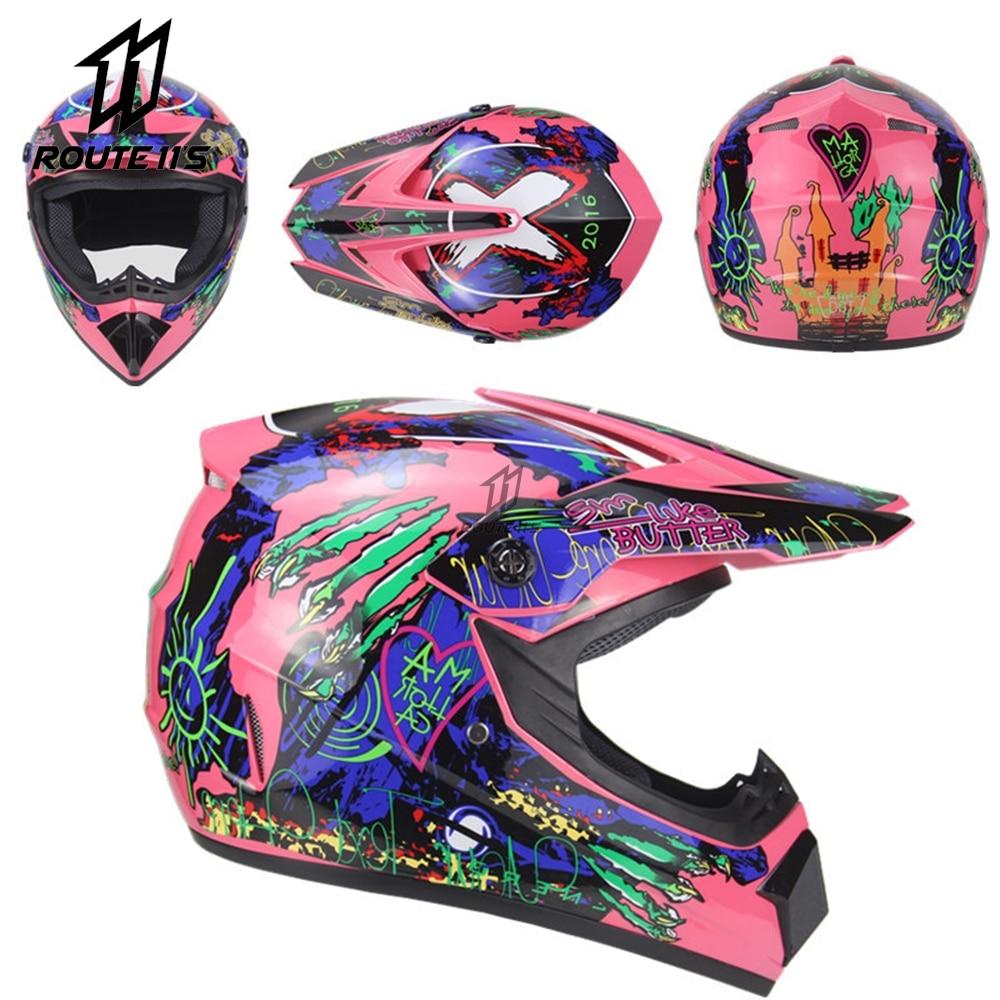 Professional Racing Motorcycle Helmet Motocross Casque hors route Casque Moto Capacete Moto Casco Off-road Cartoon Children