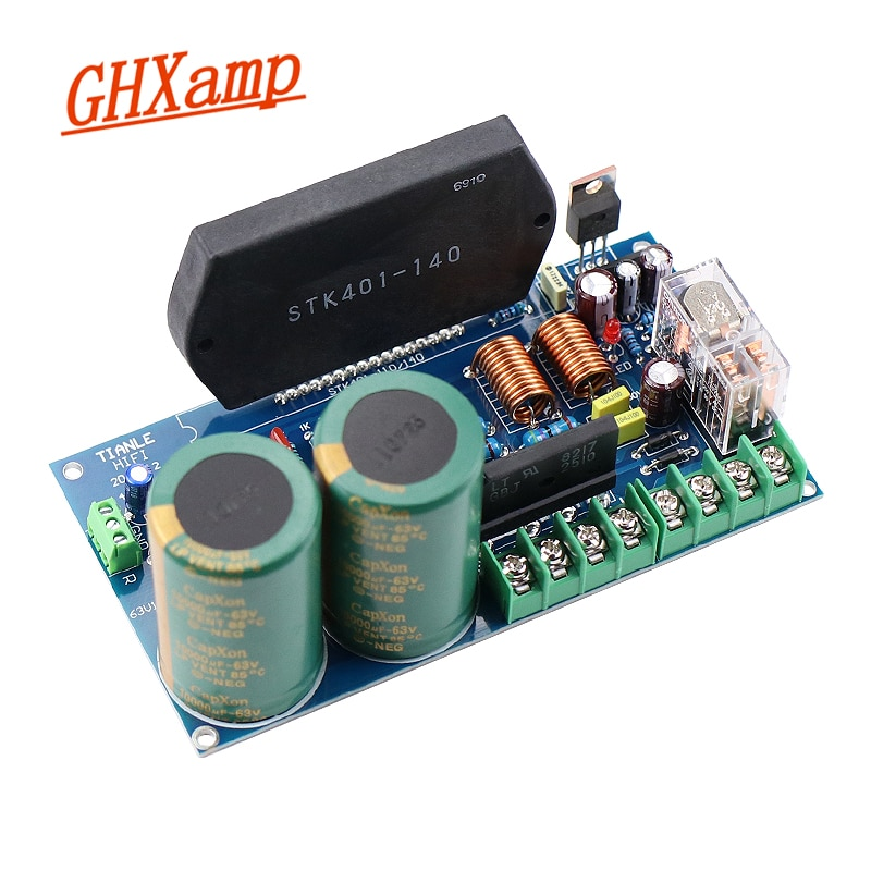 GHXAMP, STK401-140, película gruesa, placa amplificadora de potencia para música, alta potencia, 120W + 120W, con protección para altavoz UPC1237
