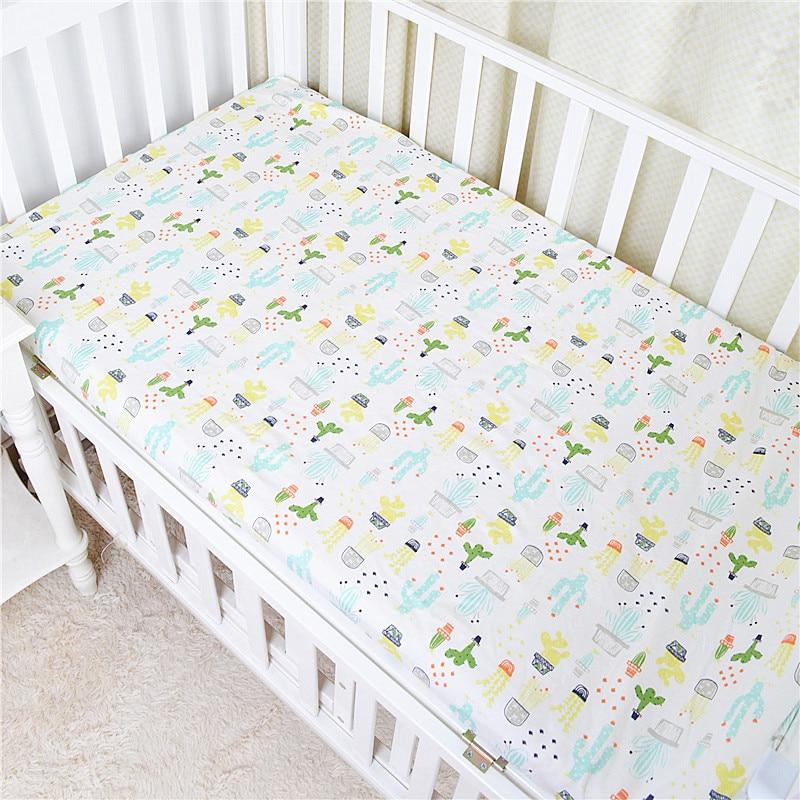 Baby Crib  Mattress Cover Bed Sheet Protection Mattress Sheet Cot Crib Bed baby bedding cotton Printing YCZ040