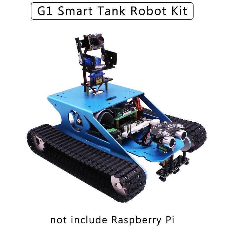 التوت بي G1 الذكية خزان روبوت كيت مع WiFi كاميرا DIY تتبع تجنب عقبة سيارة ل التوت بي نموذج 4B/3B +