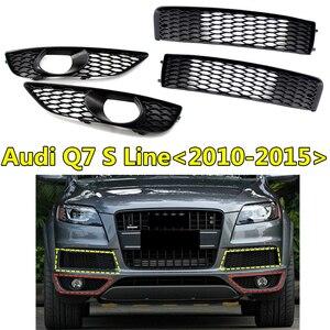 2pcs Racing Grills For Audi- Q7 S7 S-line Front Fog Lamp Light Grille Lower Front Bumper Frame 2010 2011 2012 2013 2014 2015
