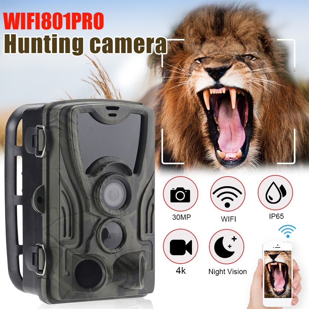 Wildlife Trail Camera Photo Trap Infrared Hunting Cameras Wildlife Wireless Surveillance Tracking Cams for Wildlife Monitoring