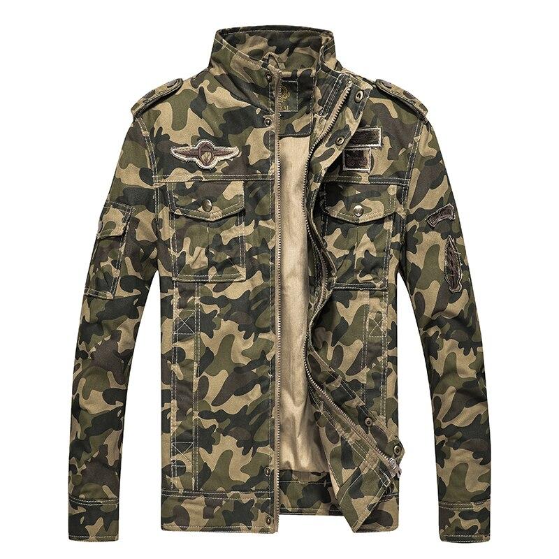 جديد الربيع معطف الجيش العسكرية سترة الرجال التكتيكية التمويه موضة عادية الرجال Bomber الستر أبلى الملابس حجم كبير 4XL