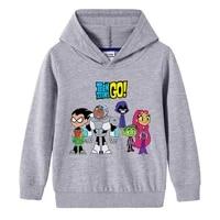new autumn teens titan go kids clothes sweatshirt kids long sleeve new clothing hoodies girls fashion boys tops pullover 2 10t