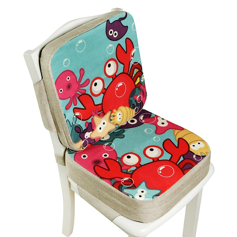 Portable Children Increased Chair Pad Adjustable Baby Furnitur Booster Seat Portable Kids Dining Cus