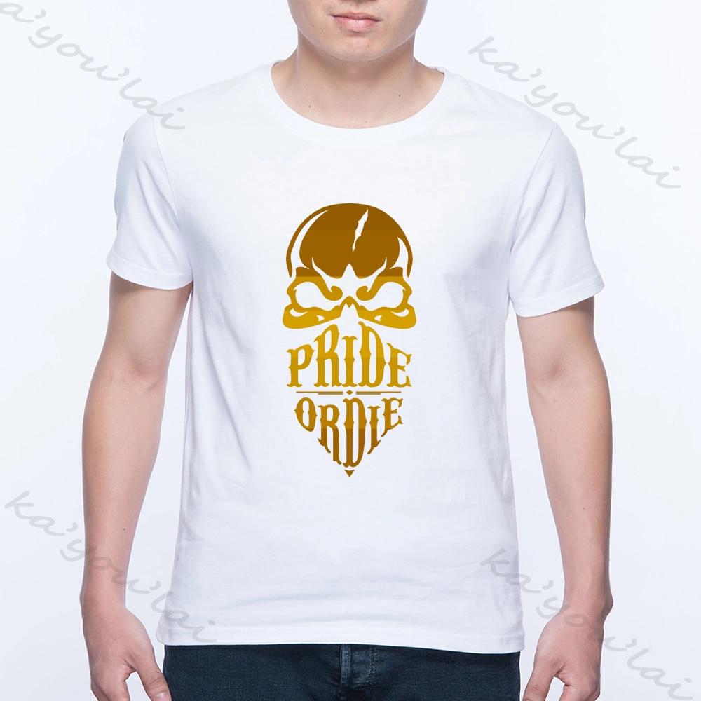 Camiseta de calavera de moda orgullo o Die Fight Club hombres camiseta Casual K1 Boxen Muay Thai BJJ Venta caliente 2020 verano Harajuku hombres Tops