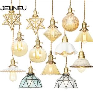 Minimalist Design Glass Pendant Lamp LED E27 11 Styles Pendant Lights For Bedroom Bedside Living Room Dining Room Corridor