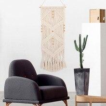 Tapisserie de bohème fait à la main   Ornements muraux suspendus, décoration de maison, avec glands perlés, tapiz pared T25