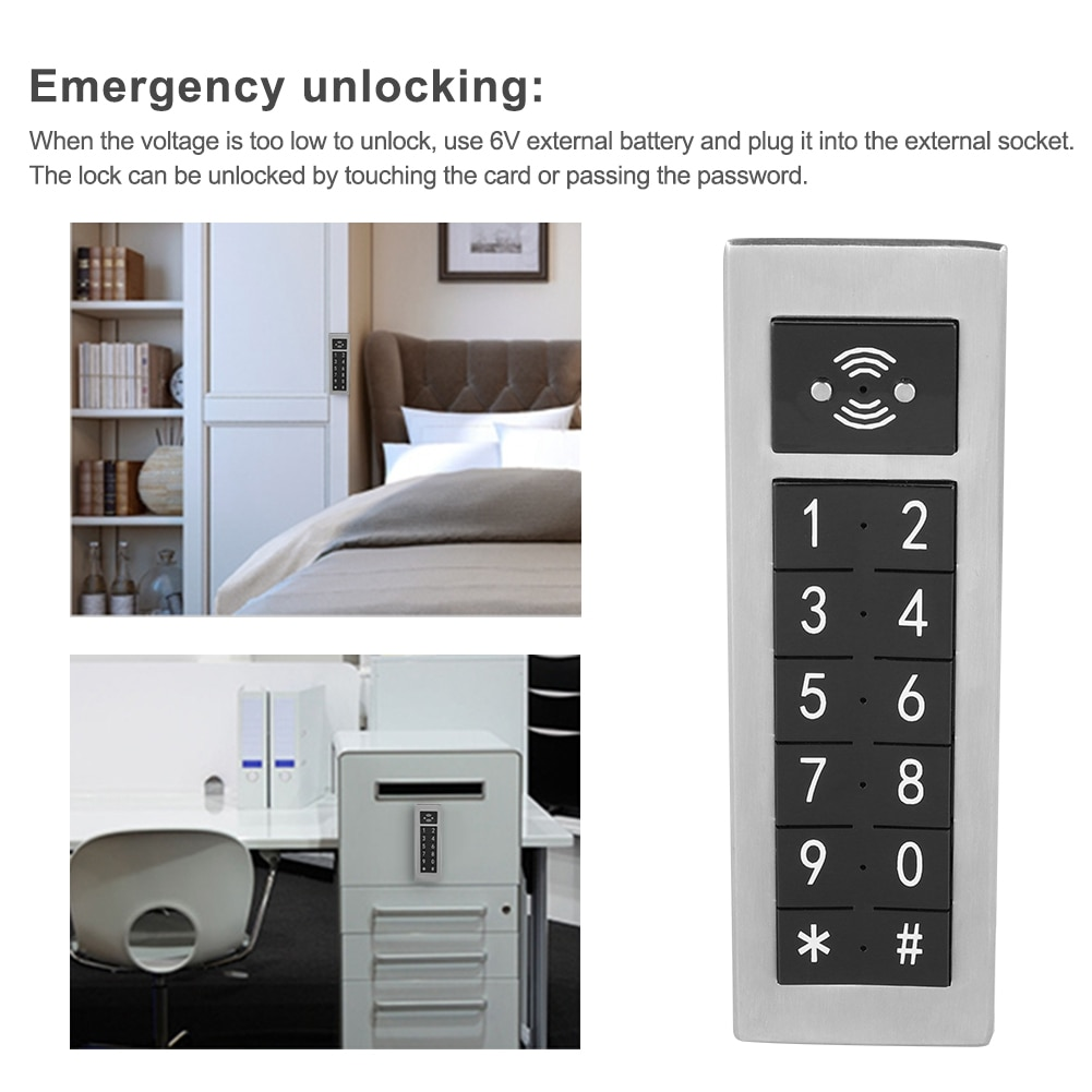 Electronic Lock Digital Password Keypad Number Cabinet Door Code Locks Stainless Steel With Controller And Access Control Card sk3 ii direct factory pulse mode and toggle mode door access controller with wireless keypad