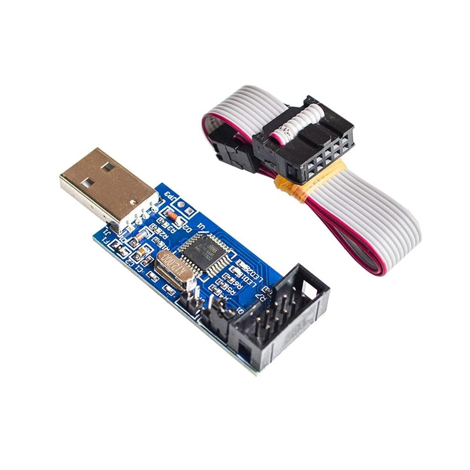 Lc-01 51 Avr Programmer Isp Usbasp Downloader Usbisp Download Cable 10 Pin Cable Usb Atmega8