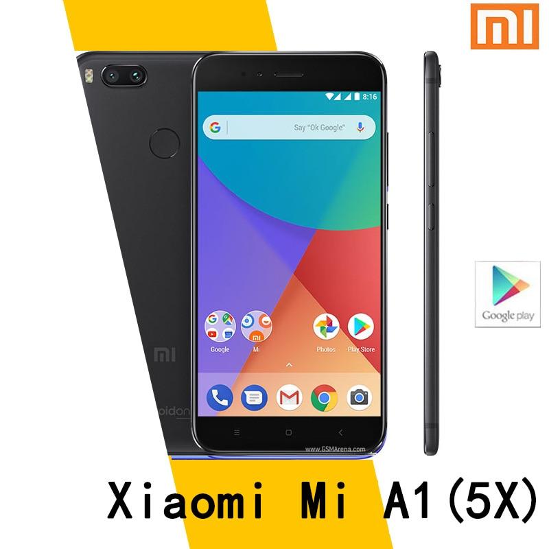 متوفر هاتف ذكي شاومي Mi A1/5x هاتف محمول 4GB 64G ROM عالمي 3080mAh بصمة