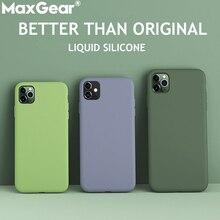 Silicone líquido caso fino para iphone 11 pro 5.8 xs max 6 s 7 8 plus x xr 5S se 4S doces originais capa completa macio funda iphone11