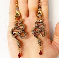 the snake hand earrings cobra earrings snake dangles earring